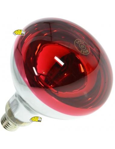 250W LAMPADA INFRAROSSI ROSSA E27 / RISCALDAMENTO PULCINI ED ALTRI ANIMALI
