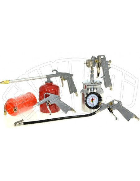 KIT 5 ACCESSORIES FOR COMPRESSED AIR COMPRESSOR INFLATING GUN AIRBRUSH ABAC