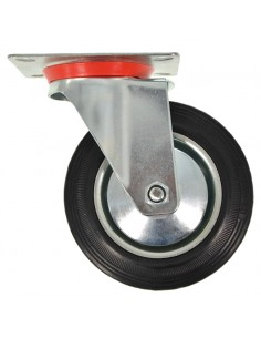 WHEEL with ROTATING SUPPORT DIAM. 160 MM REPLACEMENT for RUBBER CART