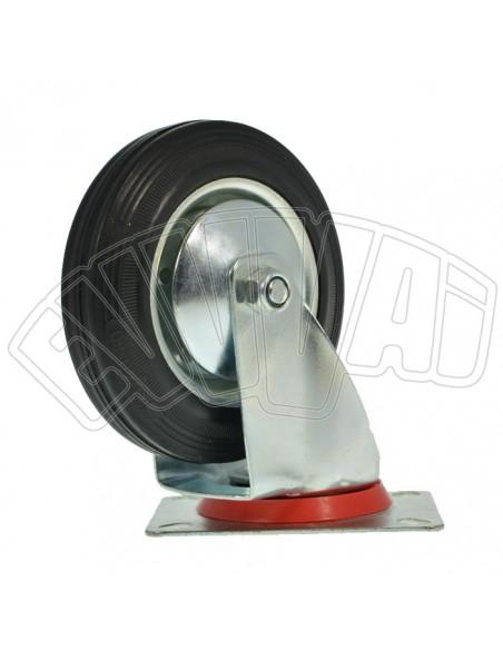 RUEDA giratoria soporte DIAM 80 MM reemplazo para el carro de goma