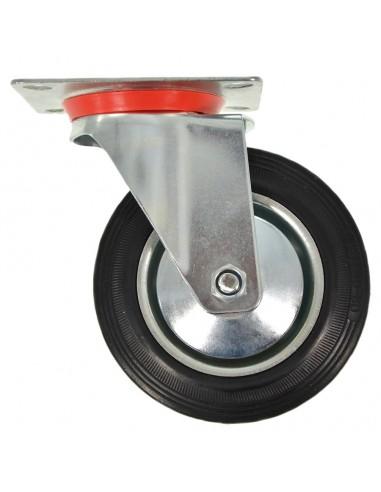 Rad mit rotierenden Unterstützung DIAM 80 MM Ersatz für Gummi-Warenkorb