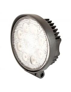 FARO DA LAVORO LED TONDO - FARETTO LUCE 110x128 MM - 10-30V 24W - 1440LM - 6000K