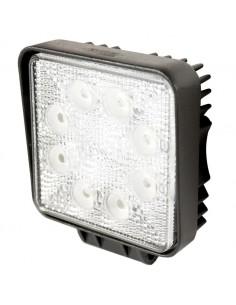 FARO DA LAVORO LED QUADRATO FARETTO LUCE 110x128MM - 10-30V 24W - 1440LM - 6000K