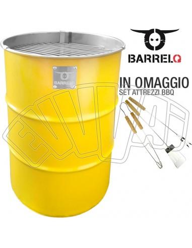 BARRELQ SMALL GIALLO - BARBECUE BARILE DI OLIO - BBQ BRACIERE TAVOLINO GIARDINO