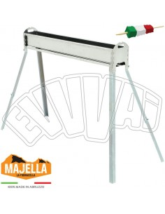 100 CM - STAINLESS STEEL BBQ FOR ARROSTICINI SKEWERS BARBECUE WITH LEGS