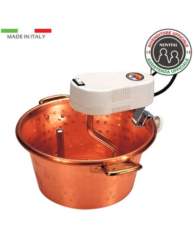 COPPER CAULDRON D. 30 CM WITH ELECTRIC MIXER / POLENTA, JAM / NOVITAL
