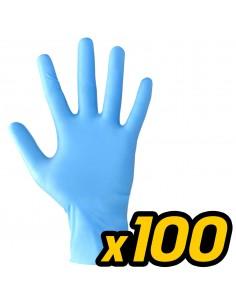 GUANTO IN NITRILE BLU 10 CONFEZIONI DA 100 GUANTI TG XL PROTEZIONE LAVORO