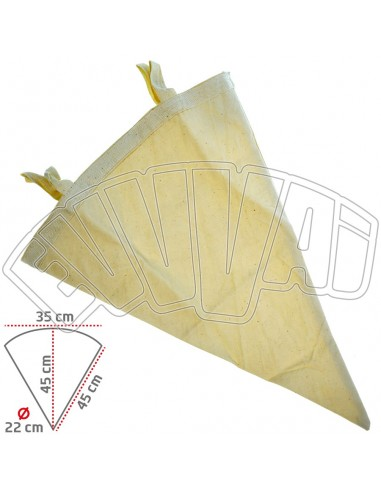 10 LT- WINE CONICAL FILTER BY COTTON...