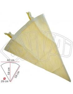 20 LT-conique vin filtre lavable toile sac en coton pour vin bière