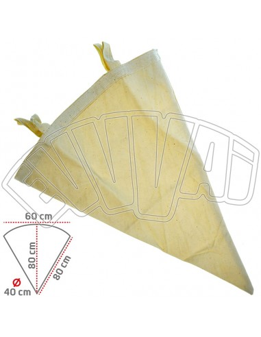 40 LT - WINE CONICAL FILTER BY COTTON CANVAS WASHABLE FOR WINE BEER
