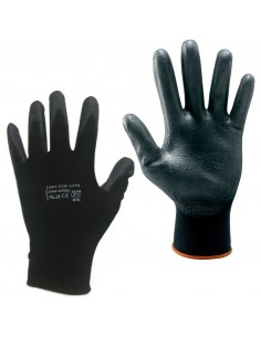 60 PAIRS WORK GLOVES SZ XL-BLACK POLYURETHANE SAFETY PROTECTION 9