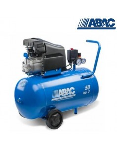 2 HP COMPRESSEUR 50 LT MONTECARLO RC2-COMPRESSED AIR AVEC ROUES RED LINE-ABAC