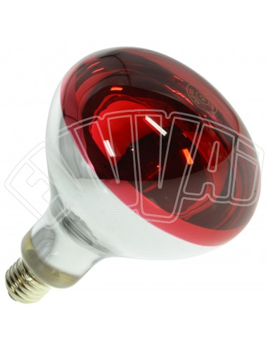 INFRA ROUGE LAMPE 150W E27 RED / CHAUFFAGE POUSSINS / ET AUTRES ANIMAUX