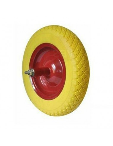 WHEEL BARROW SOLID RUBBER PUNCTURE PROOFING POLYURETHANE SPARE IPERFORABILE