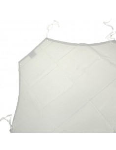 90 X 100 GREMBIULE BIANCO IN PVC ANTISTRAPPO IMPERMEABILE VENDEMMIA MACELLERIA