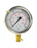 """MANOMETRO GLICERINA 0 - 25 BAR - DIAM 63 MM - DIAM FILETTO 1/4"""" PRESSIONE IRRO"""