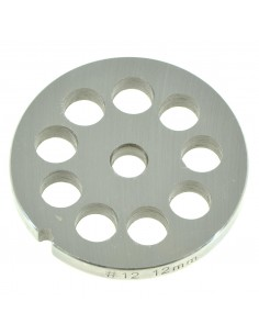 12 MM HOLES - PLATE FOR MINCER TC 12 - STEEL BLADE REBER