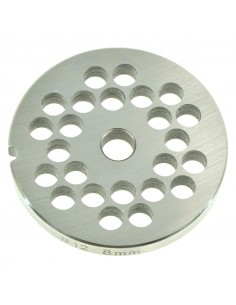 8 MM HOLES - PLATE FOR MINCER TC 12 - STEEL BLADE REBER