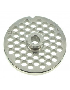8 MM HOLES - PLATE FOR MINCER TC 22 - STEEL BLADE REBER