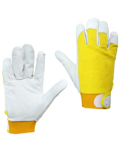 60 paires gants SZ 9 coton avec VELCRO dos fleur ANTINFORTUNISTICA de travail