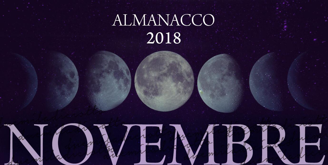 Novembre almanacco 2018